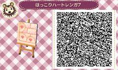 Animal Crossing: New Leaf & HHD QR Code Paths Off White Path Heart border #7