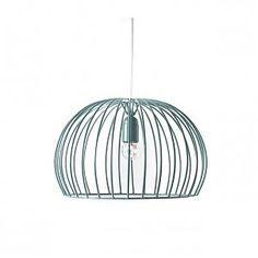 Hanglamp /// Cage /// Blauw : Gratis verzending binnen NL /// Luchtige hanglamp van staaldraad /// Je kunt het design helemaal afmaken door een bijzondere gloeilamp te gebruiken /// Inclusief snoer en staalkabel