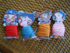 Floss bobbins by Sunny Carvalho