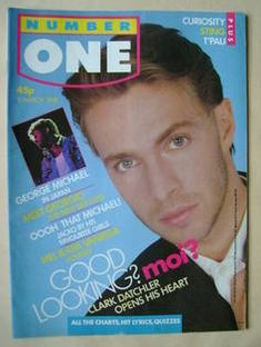 NUMBER ONE Magazine - Clark Datchler cover (5 March 1988)