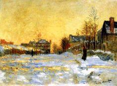 Claude Monet - Snow at Argenteuil 1875art