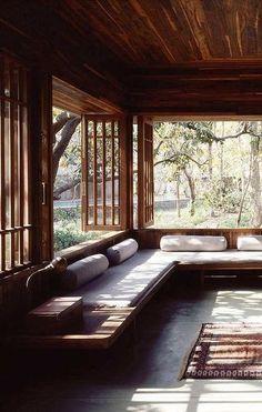 relaxing open indoor-outdoor living space