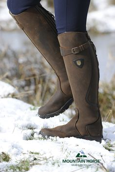 The utterly fantastic Snowy River long leather winter riding boot with faux fur lining. Simply divine. And did we mention waterproof? http://mountainhorse.se