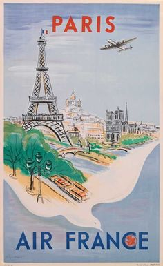 Air France Paris poster