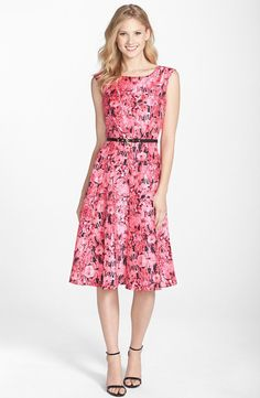 Pin for Later: What to Wear to Every Wedding Event You'll Attend This Season  Gabby Skye Belted Flower Print Shantung Midi Dress ($108)