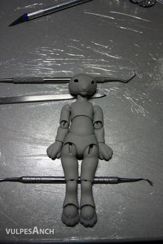 Jointed doll made of polymer clay. Tutorial. Part 2.