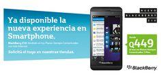 ¡Ya tenemos disponible el nuevo Blackberry Z10! Pídelo en Tiendas.