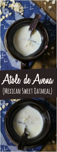 Atole de Avena combines milk, sugar, oats and cinnamon in a traditional Mexican beverage that is wonderful when served alongside Mexican sweet bread.