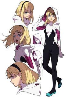 Dragon Ball Super Manga, Episode and Spoilers Marvel Comics, Bd Comics, Comics Girls, Marvel Art, Marvel Heroes, Marvel Avengers, Gwen Spider, Spider Girl, Spider Women