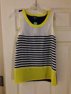Stitch Fix #3 - April 2015 - Market & Spruce Alessandra Striped & Colorblocked blouse
