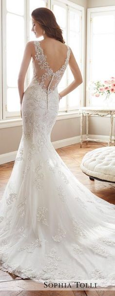 Wedding Dress by Sophia Tolli Spring 2017 Bridal Collection #weddinggowns