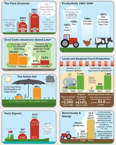 Infographic on agriculture and the farm economy - interesting stuff!