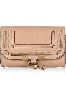 Carry your cosmetics in style with Chloé's 'Marcie' pouch. This nude leather style will make a sleek addition to your everyday tote - the perfect piece for fashionistas on the go.