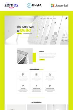 Builder - #constructioncompany Multipage Corporate #joomla Template #84735 #joomlatemplates