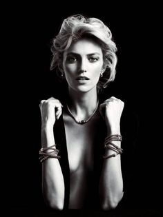 Anja Rubik by Marcin Tyszka for the Apart Diamond Spring 2014 Campaign