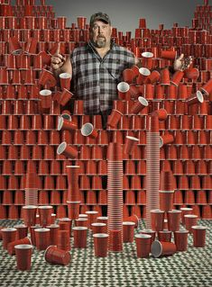 Larry the Cable Guy was shot by Paul Mobley backstage and I created the entire studio and solo cups CGi.