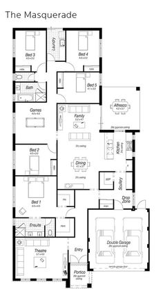 The Masquerade - Ross North Homes Dream House Plans, House Floor Plans, My Dream Home, New Home Designs, Home Design Plans, Floor Design, House Design, House Blueprints, New Home Builders