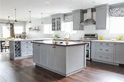 There are so many designs for kitchen, however, for today's article, I will show you the stunning grey kitchen cabinets that you can steal the inspiration! Grey Kitchen Cabinets, Kitchen Design, Home Decor, Ideas, Decoration Home, Gray Kitchen Cabinets, Design Of Kitchen, Room Decor, Home Interior Design