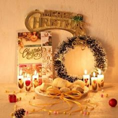Send Cookies with Floral Candles And Christmas Decor Online with same day delivery in Ahmedabad from SendGifts Ahmedabad. Order Cookies with Floral Candles And Christmas Decor online and express your best feeling to your Special Person. Merry Christmas, Christmas Gifts, Christmas Decorations, White Wreath, Ahmedabad, Greeting Cards, Wreaths, Candles, Cookies