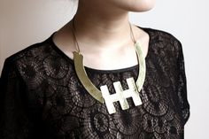 Spine Hammered Brass Necklace by youngfrankk on Etsy, $84.00