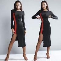 Sexy Women's Latin Dance Practice Dress Dancewear Rumba Samba Cha Cha Ballroom