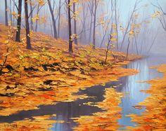 artsaus, naturaleza, otoño, hojas, árboles, río wallpaper