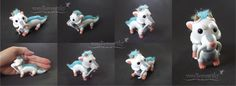 Haku, the Dragon Poseable Doll - by vonBorowsky on deviantART. So cute. Chibi jointed doll.
