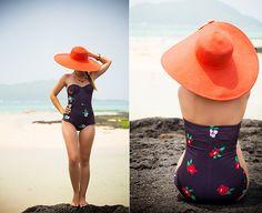 Motel Rocks Retro Swim, Reserved Hat, Persunmall Necklace, Diva Bracelet
