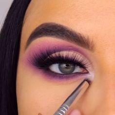 By makeup steps Makeup Looks Tutorial, Smokey Eye Makeup Tutorial, Eye Makeup Steps, Makeup Eye Looks, Beautiful Eye Makeup, Eye Makeup Art, Eyeshadow Makeup, Makeup Pictorial, Sexy Eye Makeup