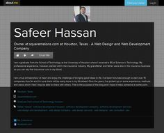 Safeer Hassan is the Owner at Square Melons Inc. - A #Web_Design and #web_Development Company in Houston, Texas. Square Melons provides complete web, #software_development & #mobile_app development solution in USA, Canada, UK, and Australia.