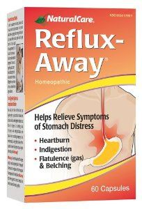 NaturalCare Homeopathic Reflux-Away Capsules, 60-Count by NaturalCare. $12.39. Stomach relief today!. Are you concerned about overuseof OTC drugs on your stomach? Finally, a natural remedy to help relieve stomach distriss symptoms including heartburn, indigestion, belching and flatulence (gas). How your stomach feels is truly a measure of how you feel  ph. Save 32%! Heartburn, Natural Remedies, Drugs, Ph, Health Care, Count, Feels, How Are You Feeling, Personal Care