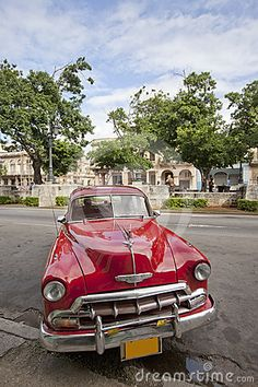 Old taxi waiting its customers in Prado Street, Havana, Cuba...Re-pin brought to you by agents of #Carinsurance at #HouseofInsurance in Eugene, Oregon