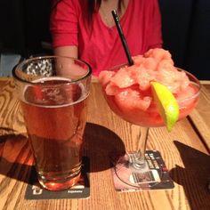Photo by matt3029 - Drinks! #ojsmenu #margarita #beer #pint #cocktail #strawberry #tequila