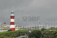 Picture of Plymouth Hoe, Devon viewed from Mountbatten. stock photo, images and stock photography. Plymouth Hoe, Creative Director, Royalty Free Photos, Devon, Lighthouse, Flower Arrangements, Graphic Design, Stock Photos, Portrait