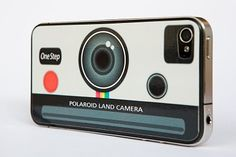 Snap a photo on the go with your new Polaroid camera (aka your iPhone in disguise). How cool is this decal?! Very, I say... very.