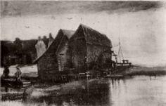 Watermill at Gennep - Vincent van Gogh
