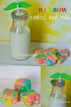 Spring Rainbow Food Cookies