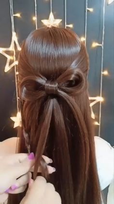 Bun Hairstyles For Long Hair, Braids For Long Hair, Girl Hairstyles, Braided Hairstyles, Front Hair Styles, Short Hair Styles Easy, Medium Hair Styles, Hair Tutorials For Medium Hair, Hair Videos
