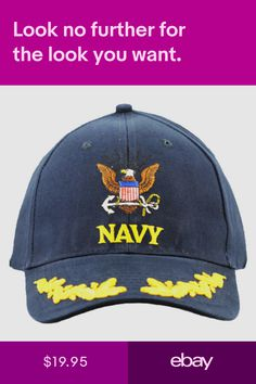 4cdcf92f0548d Custom Navy Insignia Ball Cap
