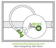 Mojo Monday 410 Card Sketch sketch designed by Julee Tilman #mojomonday #vervestamps #cardsketches #sketchchallenge
