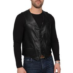 Excelled® Lambskin Leather Vest–Big & Tall  found at @JCPenney