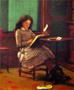 An interesting book      Knowledge is power      Summer issue, 1861      Young girl reading, 1877          The bedtime story, 1878      Pr...