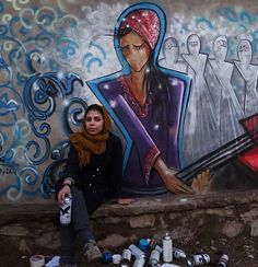 Shamsia Hassani, first (known) female street artist in Afghanistan #womensart