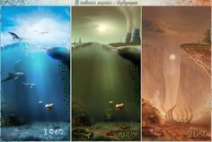 Past, Present and Future - Ecology by http://browse.deviantart.com/?q=ecology#/d3dyve8 (1280 x 860)