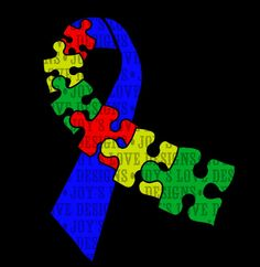 Autism Awareness Ribbon  SVG and DXF Digital by JoysLoveDesigns