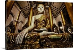 This is a Buddha statue in Shwedagon Pagoda, the most holy of the holy Pagodas in Burma!