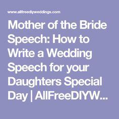 how to write a bride speech