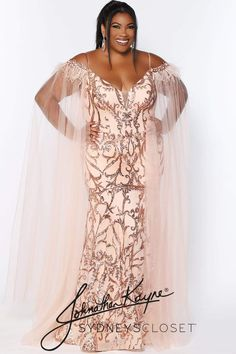 Plus Size Evening Gown, Sequin Evening Gowns, Sequin Gown, Beaded Gown, Gold Plus Size Dresses, Plus Size Gowns, Rose Gold Quinceanera Dresses, Prom Dresses, Lace Dresses
