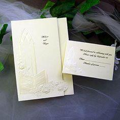 Spiritual wedding invitation. 100 for $60.90    Social Graces carries a selection of Spiritual invitations.