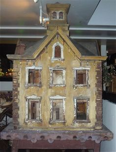 Huge 7x4 foot antique doll house! So dilapidated and gorgeous.